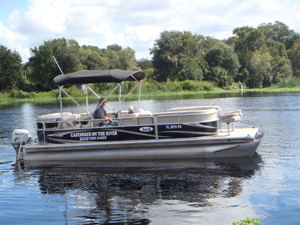 Boat rentals in astor florida fishing castaways on for Best fishing pontoon