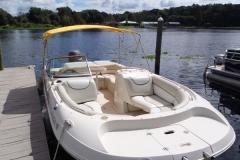 castaways-23ft-azure-deck-boat-from-front