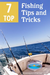 to 7 fishing tips and tricks Pinterest pin