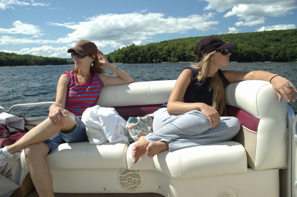 ladies on a boat