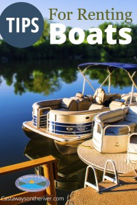 Castaways tips for renting boats Pinterest pin