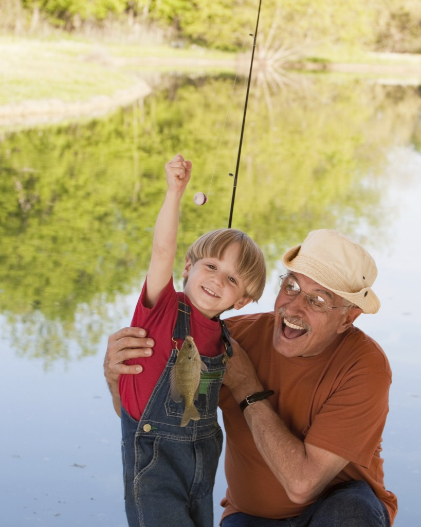 grandson and grandpa fishing trip