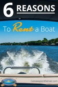 rent a boat Pinterest pin
