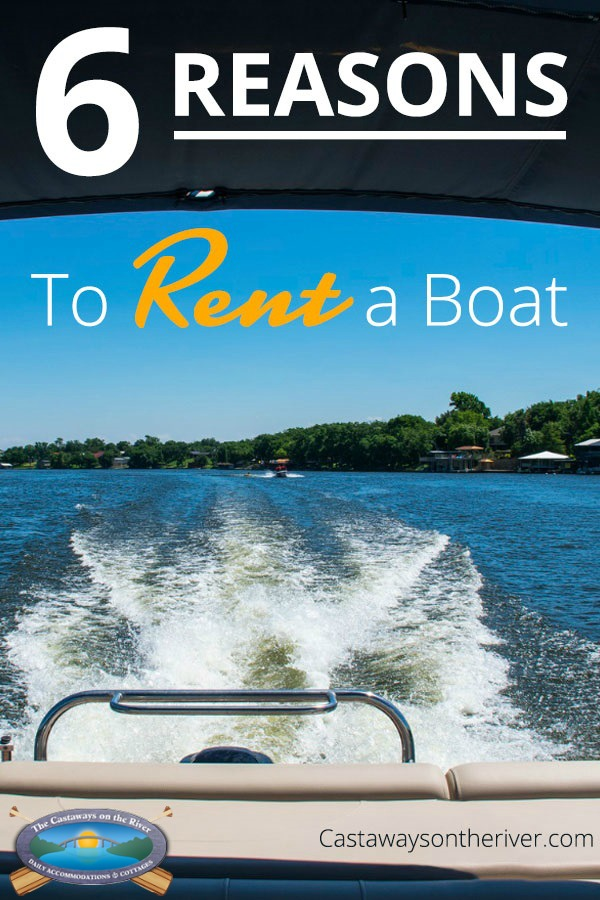 rent a boat Pinterest pin