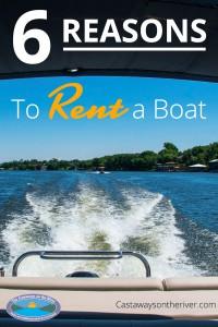 rent a boat Pinterest image