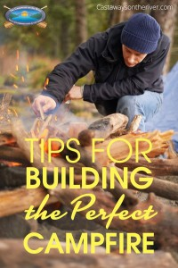 tips for building a campfire Pinterest image