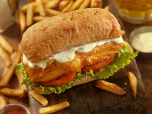 dining st. johns river fish sandwich