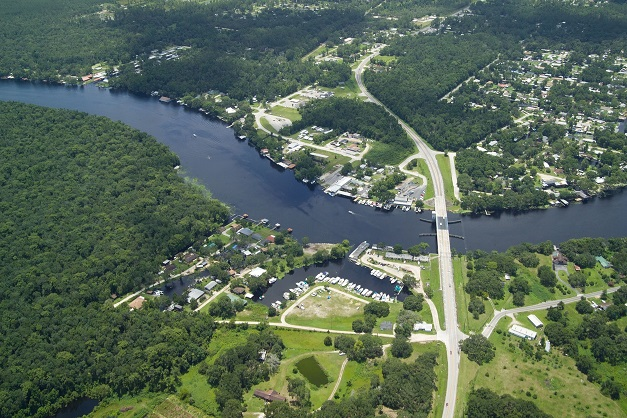 st. johns river aerial